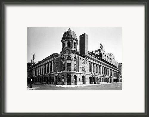 Shibe Park In Black And White Framed Print By Bill Cannon