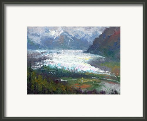 Shifting Light - Matanuska Glacier Framed Print By Talya Johnson