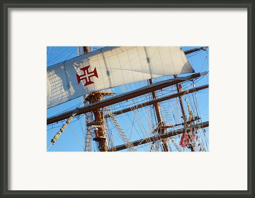 Ship Rigging Framed Print By Carlos Caetano