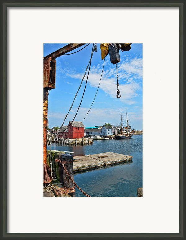 Shipyard Of Cape Ann... Framed Print By Joanne Beebe