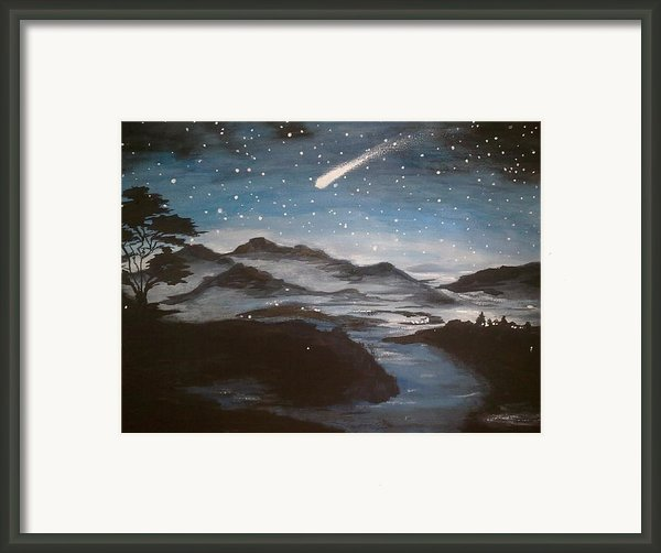 Shooting Star  Framed Print By Irina Astley