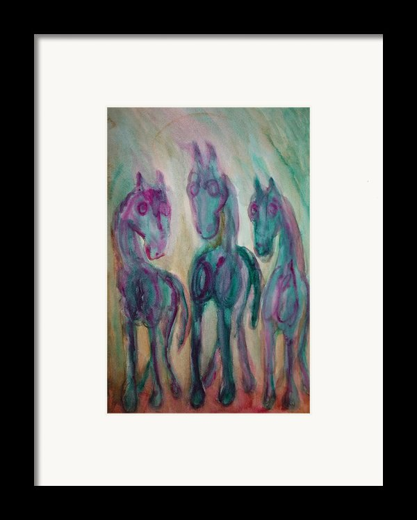 Shy Horse Triangle Framed Print By Hilde Widerberg