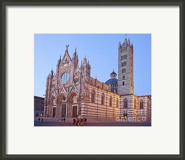 Siena Duomo At Sunset Framed Print By Liz Leyden