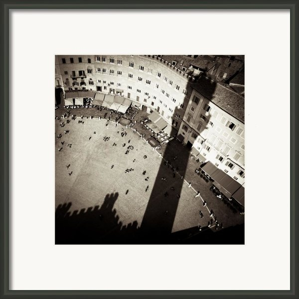 Siena From Above Framed Print By David Bowman