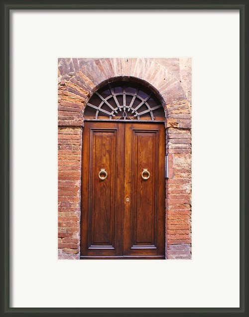 Sienna Door Framed Print By Barbara Stellwagen