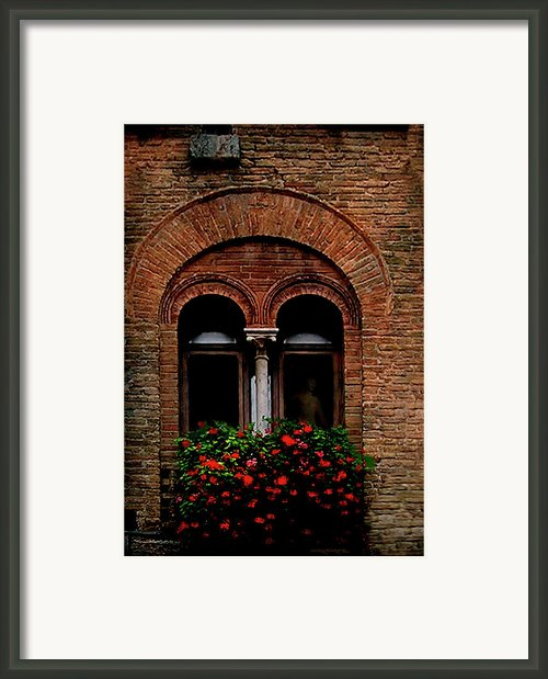 Sienna Window Framed Print By Patrick J Osborne