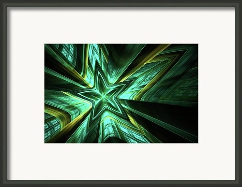 Silent Fall Abstract Framed Print By Zeana Romanovna
