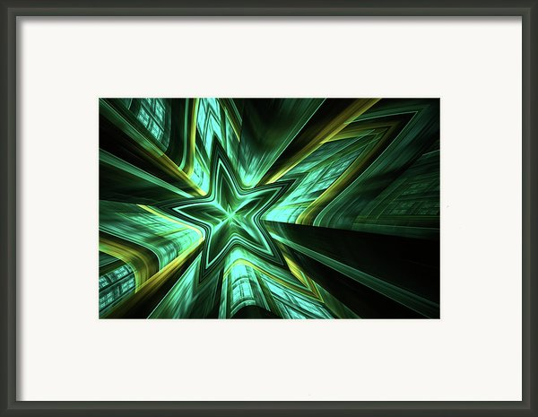 Silent Fall Abstract Framed Print By Zeana Romanovna