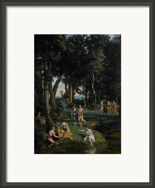 Silenus Framed Print By Jean Baptiste Camille Corot