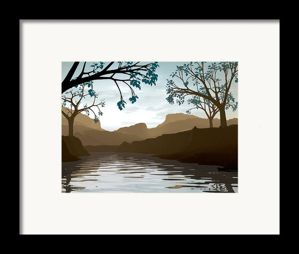 Silkscreen Framed Print By Cynthia Decker