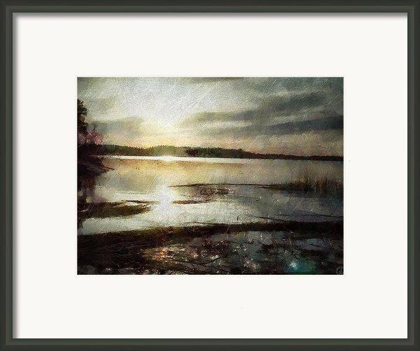 Silver Morning Framed Print By Gun Legler
