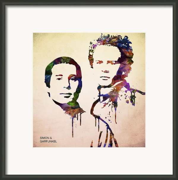 Simon And Garfunkel Framed Print By Aged Pixel