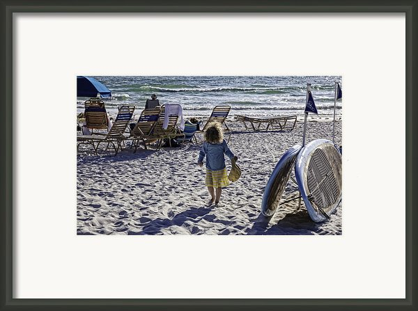 Simpler Times 2 - Miami Beach - Florida Framed Print By Madeline Ellis