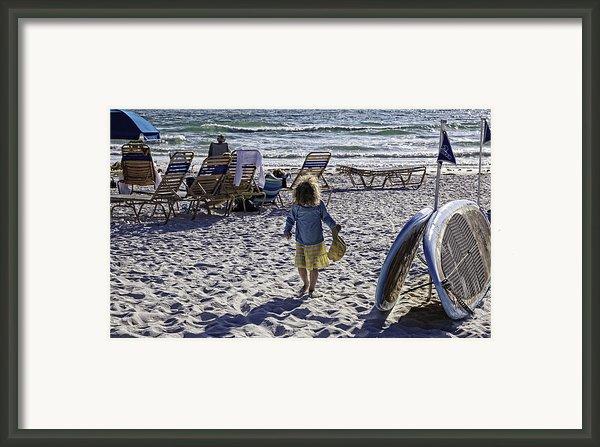 Simpler Times 2 - Miami Beach - Florida Framed Print By Madeline Ellis