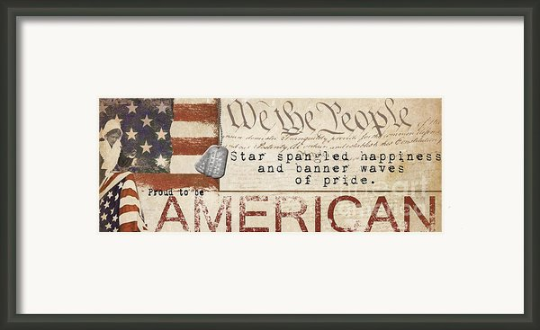 Simplified America Framed Print By Grace Pullen