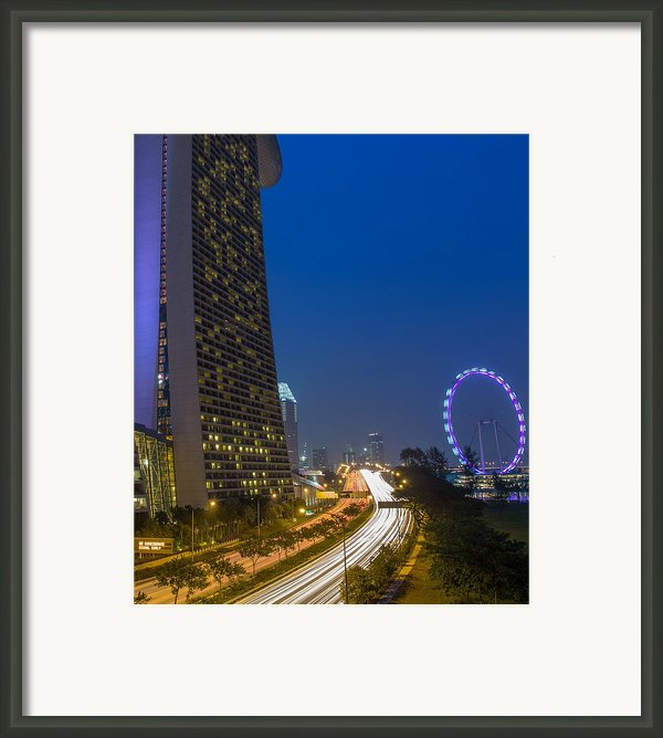 Singapore Evening Framed Print By Mountain Dreams