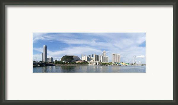Singapore Waterfront   Framed Print By Mountain Dreams