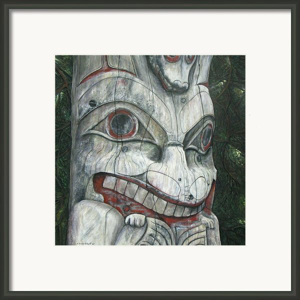 Sitka Totem-alaska Framed Print By Elaine Booth-kallweit
