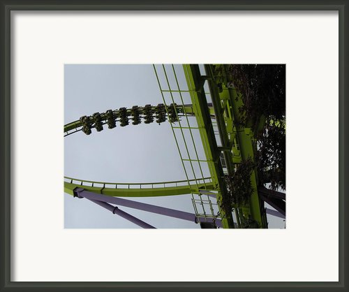 Six Flags Great Adventure - Medusa Roller Coaster - 12122 Framed Print By Dc Photographer