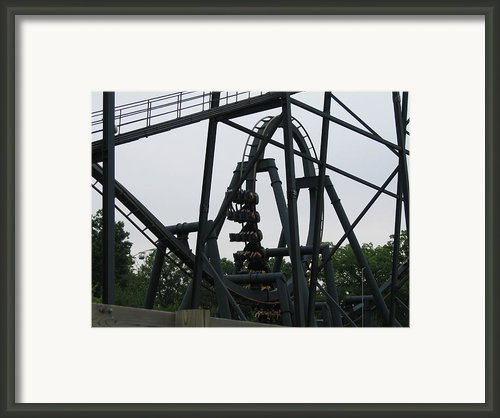 Six Flags Great Adventure - Medusa Roller Coaster - 12124 Framed Print By Dc Photographer