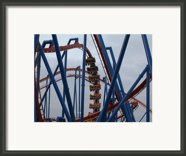 Six Flags Great Adventure - Medusa Roller Coaster - 12125 Framed Print By Dc Photographer