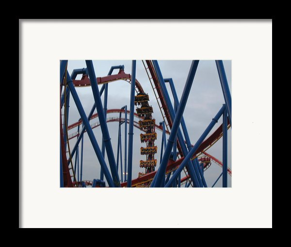 Six Flags Great Adventure - Medusa Roller Coaster - 12125 Framed Print By Dc Photographer