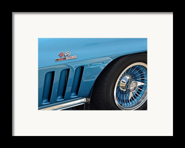 Sixty Six Corvette Roadster Framed Print By Frozen In Time Fine Art Photography