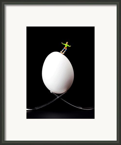 Skateboard Rolling On A Egg Framed Print By Paul Ge