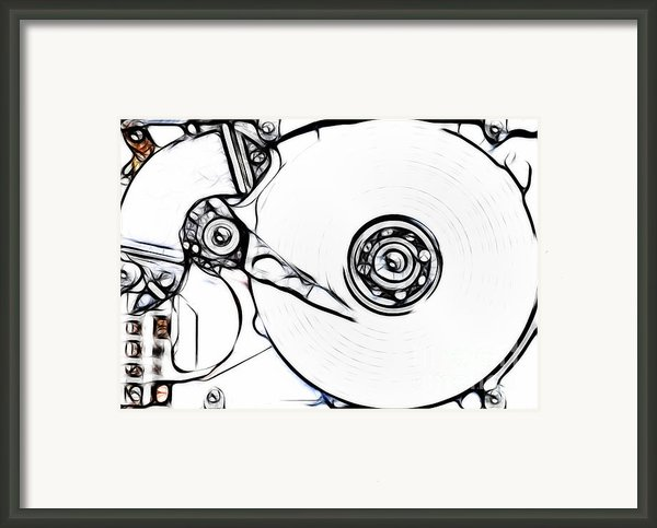 Sketch Of The Hard Disk Framed Print By Michal Boubin