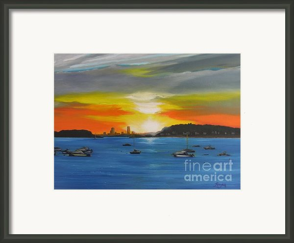 Skies Over The City Framed Print By Barbara Hayes