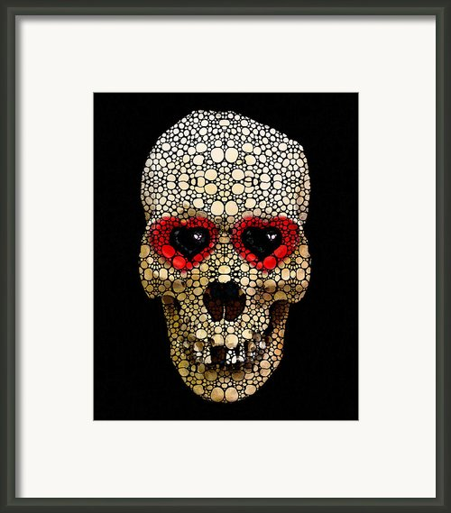 Skull Art - Day Of The Dead 3 Stone Rock