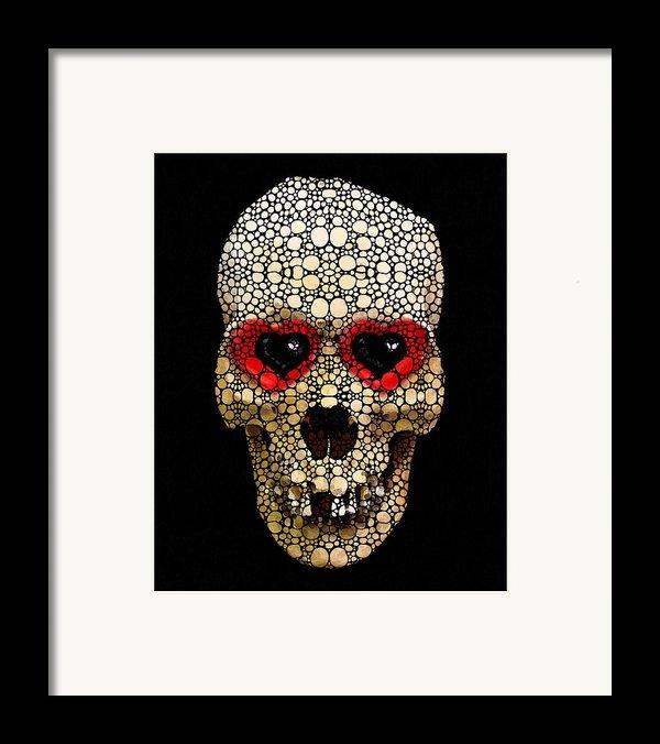 Skull Art - Day Of The Dead 3 Stone Rock