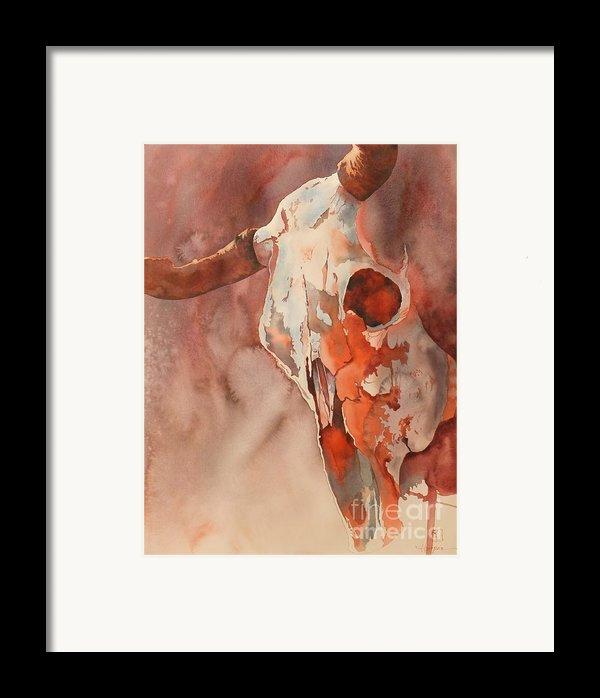 Skull Of The Brave Framed Print By Robert Hooper