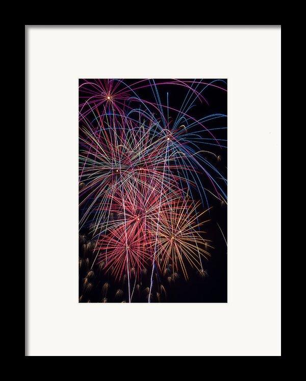 Sky Full Of Fireworks Framed Print By Garry Gay