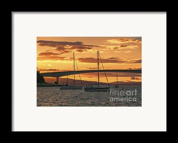 Skye Bridge Sunset Framed Print By Chris Thaxter