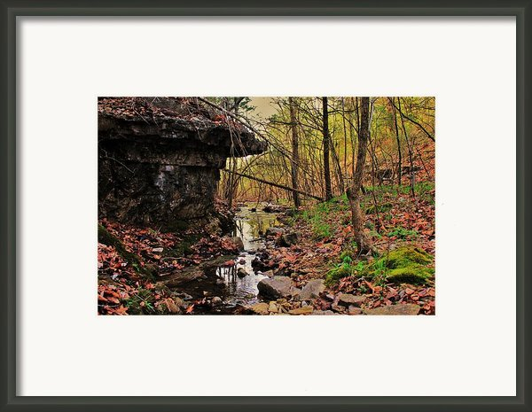 Slate Bottom Creek Framed Print By Benjamin Yeager