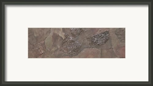 Slate Slab Framed Print By Jim Ellis
