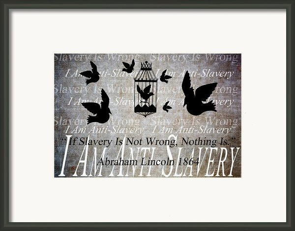 Slavery Framed Print By Angelina Vick