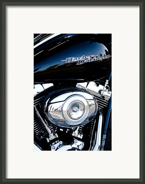 Sleek Black Harley Framed Print By David Patterson