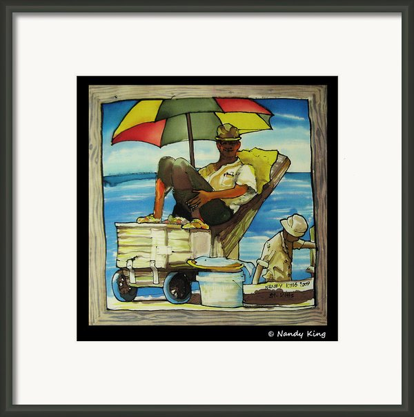 Sleepy Fisherman Framed Print By Nandy King