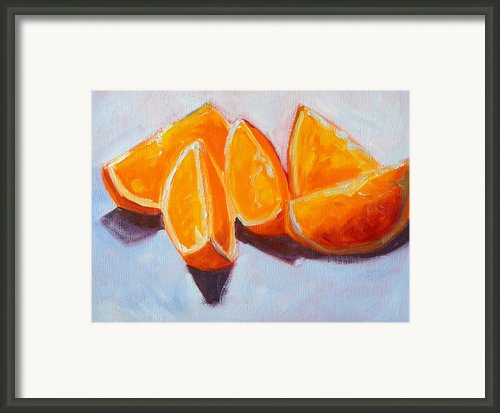 Sliced Framed Print By Nancy Merkle