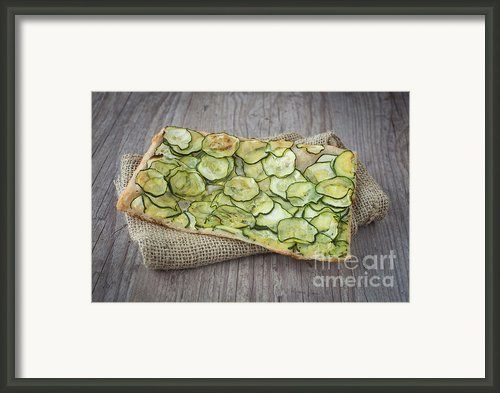 Sliced Pizza With Zucchini Framed Print By Sabino Parente