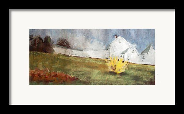 Slowly Comes Spring Framed Print By Grace Keown