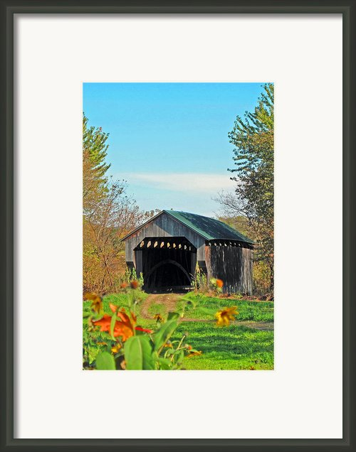 Small Private Country Bridge Framed Print By Barbara Mcdevitt