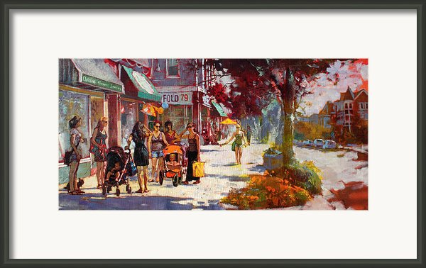 Small Talk In Elmwood Ave Framed Print By Ylli Haruni