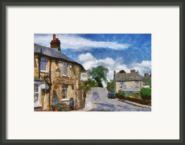 Small Town Street Framed Print By Ayse Deniz