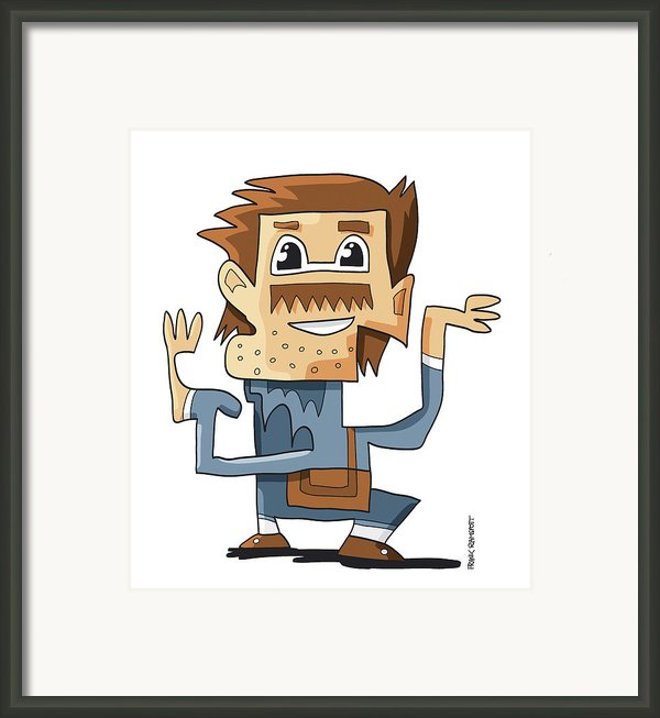 Smart Guy Doodle Character Framed Print By Frank Ramspott