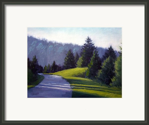 Smokey Mountain Drive Framed Print By Janet King