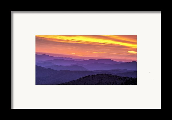 Smoky Sunset Panorama Framed Print By Andrew Soundarajan
