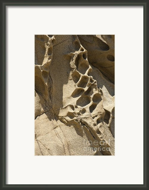Snadstone Rock Formations In Big Sur Framed Print By Author And Photographer Laura Wrede